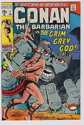 Conan The Barbarian #3 Vf-/vf Low Dist In Some Areas Barry Smith Art!
