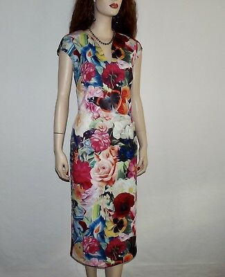 f52e963513bf09 Ted Bake Odeela Midi Floral Multi Color Dress US Size 10 Ted Baker Size 4