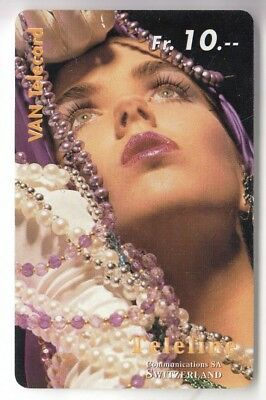 Sexy Charme Pin-Up Art  Telecarte / Phonecard .. Suisse 10Frch Teleline 10/99+N°