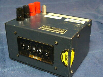 General Resistance Substituter RTD-200 Decade Box 20.00 to 1200 ohm w/ milliohm