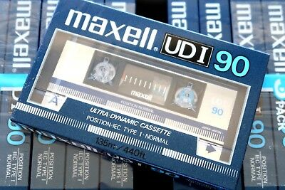 Maxell Udi 90 Normal Position Type I Blank Audio Cassette - Japan 1985