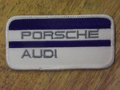 """Porsche Audi Blue and White Patch 4"""" Wide X 2"""" Tall"""