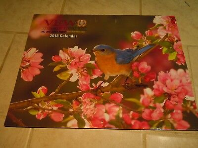 2018 Wall Calendar-Vfw-Veteran Of Foreign Wars-Birds