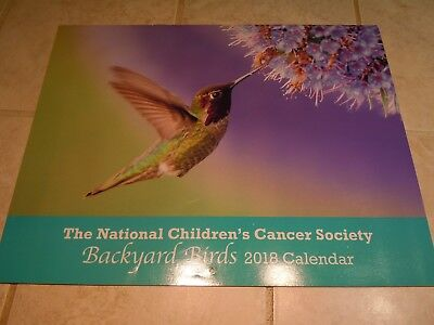 2018 Wall Calendar- National Children's Cancer Society-Backyard Birds