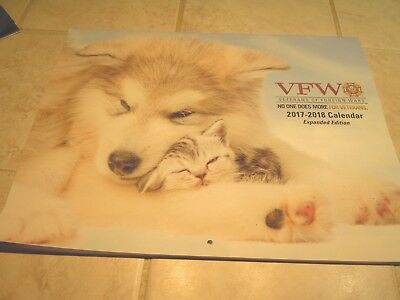2018 WALL CALENDAR-VFW-VETERAN OF FOREIGN WARS-dog, cats- pets