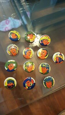 old Group of 13 Diff Cowboy & Indian  Pinback Button s,Cereal Premium s