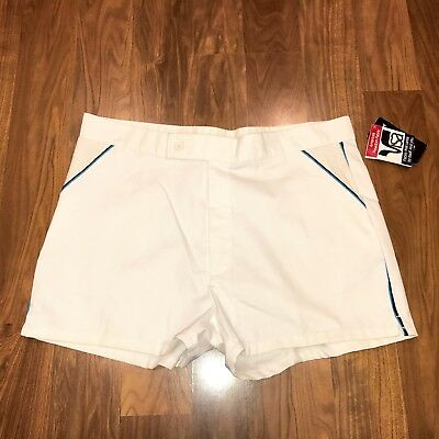 NEW Vtg 70s 80s Jantzen TENNIS White Mens 38 track athletic Wimbledon shorts NWT
