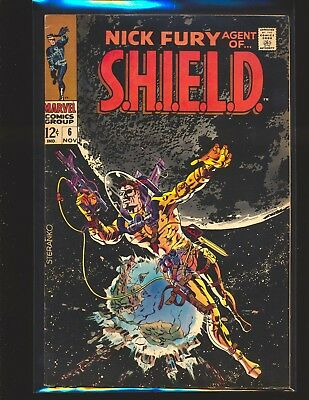 Nick Fury Agent of S.H.I.E.L.D. # 6 - Steranko cover VG Cond centerfold detached