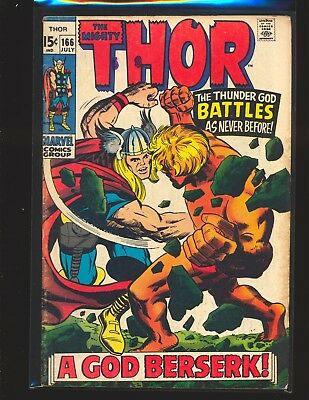 Thor # 166 - 2nd full Warlock (Him) G/VG Cond.