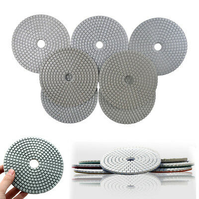 5 Inch Diamond Polishing Pads Wet Dry Sanding Disc Marble Concrete Granite Glass
