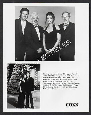 8x10 Photo~ CHRISTMAS WITH VINCE GILL~Michael McDonald~Amy Grant~Chet Atkins~TNN