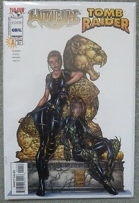 Witchblade/tomb Raider  #1..michael Turner..top Cow/image 1998 1St Print..vfn+