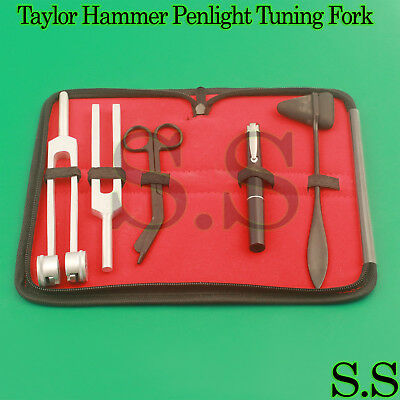 Tactical Black 5 pcs Taylor Hammer, Penlight, Scissor and Tuning Fork C128, C512