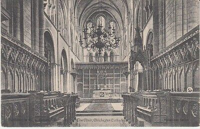 UK - The Choir Stalls, Chichester Cathedral (Post Card) 1910's