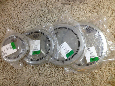 """Remo Powerstroke 3 Clear Fell Set 8"""" 10"""" 12"""" 14"""" Tom Drum Heads"""