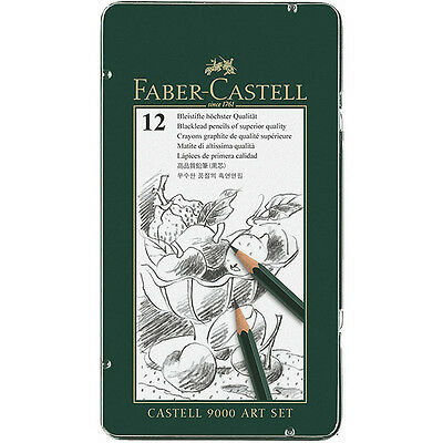 Faber-Castell - CASTELL 9000 Graphite Pencils - Art Set - Tin of 12