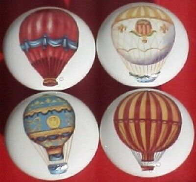 Ceramic Cabinet Knobs W/ Hot Air Balloons