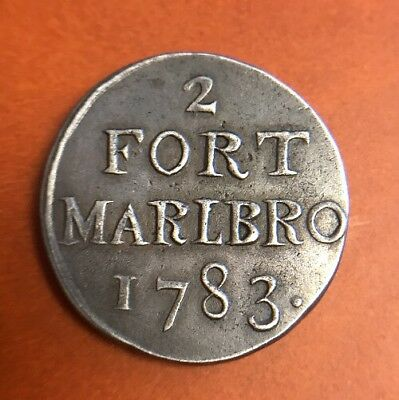1783 N. E. Indies Fort Marlbro 2 Sukus XF Insanely Rare Colonial