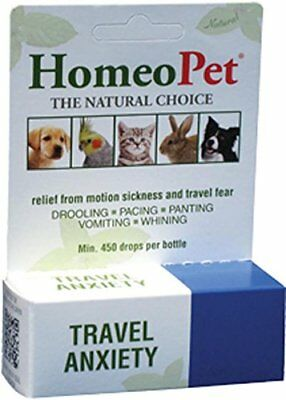 Homeopet Travel Anxiety 15Ml Dog Bird Cat Small Animal. Free Shipping To The Usa