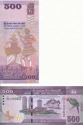 Sri Lanka - 500 Rupees 2016 UNC - Pick New