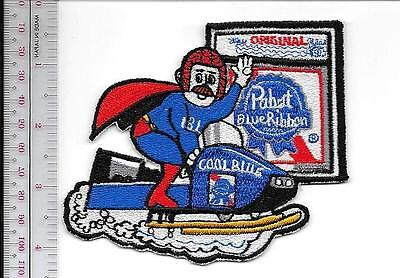 Beer Snowmobile Pabst Blue Ribbon Beer Cool Blue Snowmobile 1970's Ads Milwaukee