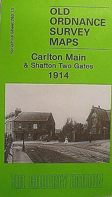 Old Ordnance Survey Map Carlton Main & Shafton Two Gates Yorkshire 1914 S263.13
