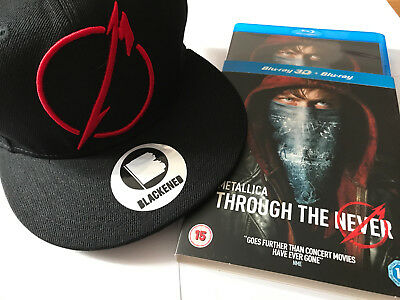 Metallica - Through The Never Basecap + Blu-ray + Blu-ray 3D - NEW & unused