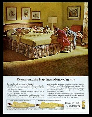 1962 miniature schnauzer photo Simmons Beautyrest mattress vintage print ad
