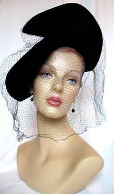Fabulous Vintage 40's Sculpted Hat NY Creation EX!
