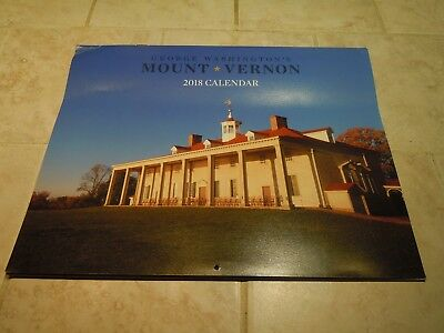 2018 Wall Calendar- Mount Vernon- George Washington-Virginia