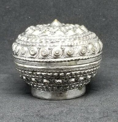 Fine 19th c Chinese  Silver over Copper Antique Pill Snuff Powder box