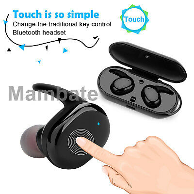 Wireless Touch Mini Twins True Bluetooth Stereo Headset In-Ear Earphone Earbuds