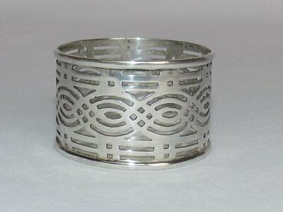 Antique 1911 Chester England Sterling Silver Pierced Open Work Napkin Ring