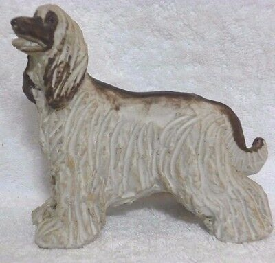 Jie Sweden Afghan Dog Pottery Sculpture Figurine