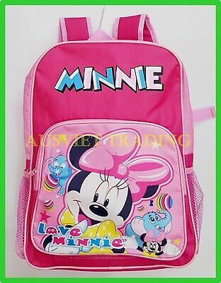 BNWT new Disney Minnie Mouse Bag kids cartoon Preschool Daycare Girls Backpack