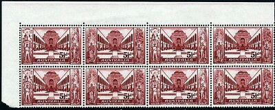 1958 War Memorial Block Of 8 - Fresh Muh