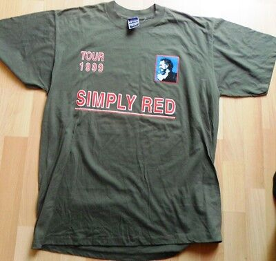 """SIMPLY RED Tour 1999"""" T-Shirt,  never worn  large"""