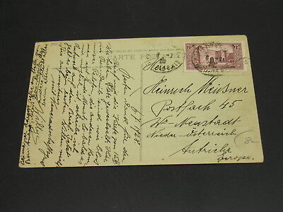 Morocco 1928 Taghit picture postcard to Austria corner folds *23213