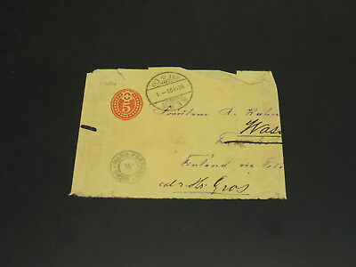 Switzerland 1893 wrapper to Finland faulty *21654