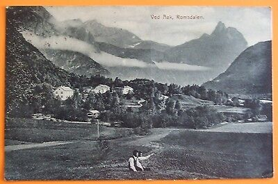 Postcard POSTED c.1910 VED AAK ROMSDALEN NORWAY NORGE