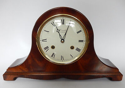 Excellent Comitti of London Mahogany Case Bell Strike Mantel clock 2774