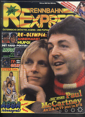 Rennbahn Express Nr.2 von 1980 mit Paul McCartney, Queen, Specials, Pink Floyd..