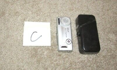 VINTAGE MINOLTA-16 MG SPY CAMERA SILVER MINI SUBMINIATURE w/ CASE