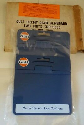 Set of 2 (NOS) GULF OIL CREDIT CARD CLIPBOARDS