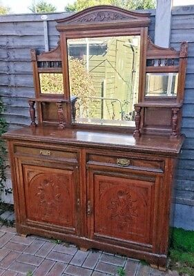 Antique Dresser Sideboard Dark Wood..Upcycle project...Can deliver