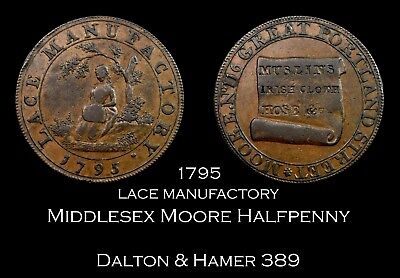 1795 Middlesex Moore's Conder Halfpenny D&H 389