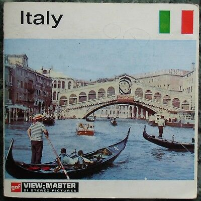 3 View-Master 3D Bildscheiben - Nations Of The World | Italy + Booklet