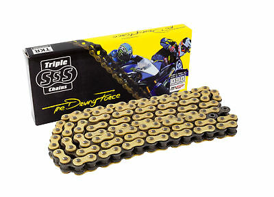 Triple-S Motorcycle Bike HD O-RING CHAIN GOLD 530-120 LINK