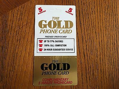 The GOLD PHONE CARD, 5 minutes, CCM