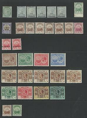Bermuda - Early Duplicated Mint Stock On 4 Hagnar Sides - Good £Cv